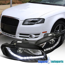 For 2006-2008 Audi A4 Projector Headlights+Led DRL Lamps Black SpecD Tuning