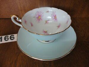 Beautiful Rare Vintage Shelley Pink Pyrethrum Large Tea Cup & Saucer
