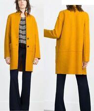 Zara Blazer Button Knee Length Coats & Jackets for Women
