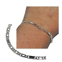 Bracelet en argent massif 925 jolie chaîne style gourmette 18cm bijou