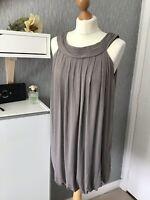 Zara Basic Size M (EU M/USA M) Lined Sleeveless Dress With Bubble skirt