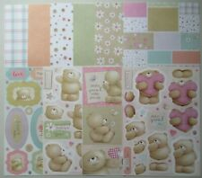 Craft / Card Making Docrafts FOREVER FRIENDS Teddy decoupage, toppers & papers