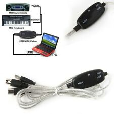 More details for usb in-out midi interface converter cable pc to music keyboard adapter wire uk