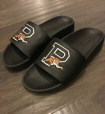 Polo Ralph Lauren Cayson Tiger slides shoes new sz 9 Men's sandals Black Big P