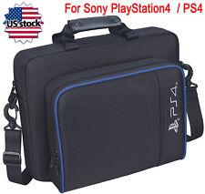 Black Multifunctional Travel Carry Case Handbag For Sony PlayStation4 PS4 Bag US