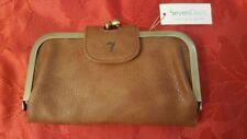 NWT SEVEN DAYS lifestyle & dreams vegan leather wallet cognac M14546ES