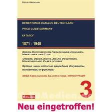 Bewertungskatalog Orden und Ehrenzeichen Deutschland 1871 - 1945 Band 3 Niemann