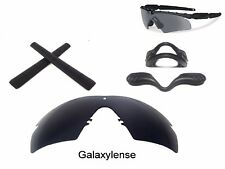 Galaxy Lenses + Nose Pad + Earsock For Oakley Si Ballistic M Frame 2.0 Z87 Black