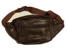 Fanny Pack Brown Unisex Leather Waist Bag Small Cycling Purse No flaws EC