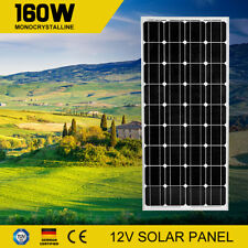 12V 160W Mono Solar Panel Kit Generator Caravan Camping Battery Charger 160watt