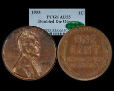 1955/55 Doubled Die Lincoln Wheat Cent PCGS AU55 CAC