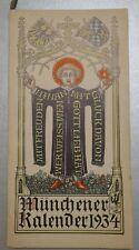Münchener Kalender 1934 Ritter von Epp Graf Ysenburg Wolf-Mettternich Frundsberg
