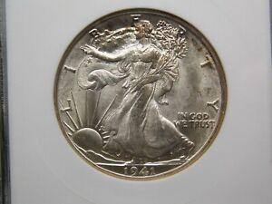 "1941 ""D"" Walking Liberty Silver Half Dollar 50c ANACS MS64 ECC&C, Inc."