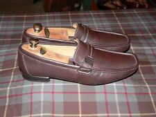 f5bb438d83a7 Taryn Rose Brown Leather Buckle Driving Loafers Moccasins