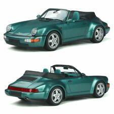 GT SPIRIT Porsche 911 (964) Convertible Turbo Look 1992 Échelle 1:18 Voiture Miniature - Wimbledon Green Metallic (GT294)