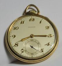 VTG 1920s Agassiz Swiss 17j open face gold filled manual Pocket watch SERVICED