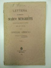 GIOIA Edoardo, Lettera all'onorevole Marco Minghetti presidente del Consiglio...