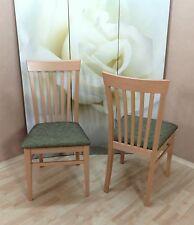 2x Esszimmerstühle Massivholz Esszimmerstuhl Stühle Farbe: Buche-Natur/Oliv