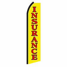 Insurance Advertising Sign Swooper Feather Flutter Banner Flag Only
