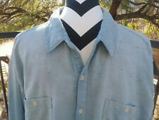 Lucky Brand Men's Casual Cotton Blue Button Down Shirt Size XXL