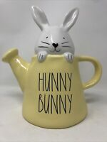 Rae Dunn By Magenta HUNNY BUNNY Watering Can With Bunny  LL  NEW. Yellow can