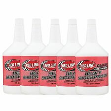 5 x Red Line Heavy Shockproof Gearbox / Gear / Transaxle Oil - 5 US Quarts