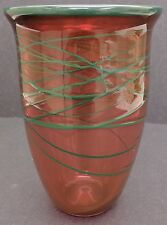 Penny Stevens Hand Blown Glass Vase Dated & Numbered