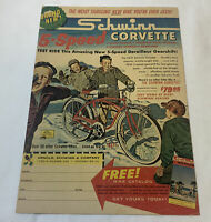 1961 Schwinn 5-SPEED CORVETTE bicycle ad page