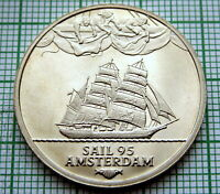 HOLLAND NETHERLANDS 1995 AMSTERDAM SAIL 2 ECU, SAILING SHIP, UNC