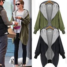 Plus Size Womens Hoodie Sweatshirt Jacket Coat Hooded Cardigan Top Outwear AU