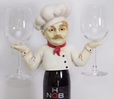 DECORABLES CHEF WINE BOTTLE DECORATIVE COVER TOPPER STEM GLASS HOLDER CADDIE