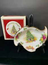 Old Country Roses Royal Albert Christmas Magic Leaf Dish NIB New Candy Nut 1990