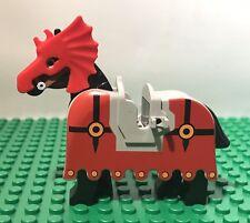 LEGO Vintage Fright Knights Horse w/ Barding & battle helmet 6097 6047 6099
