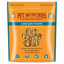 Pet Munchies 100% Natural Dog Puppy Treats Chews Value Pack LOW FAT Chicken Duck