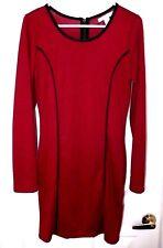 Derek Heart Cling Knit Red Dress-L  NWT