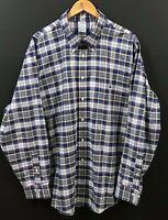 BROOKS BROTHERS Regent Men's Blue Plaid Long Sleeve Non-Iron Shirt sz 2XL