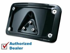 Kuryakyn Gloss Black Laydown Curved License Plate Mount Kit Harley Honda Chopper
