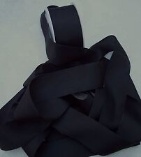 "100% PURE SILK RIBBON ~BLACK 5  YDS 1"" [25MM] WIDE"