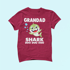 Grandad Shark Shirt Funny Father'S Day Gift For Men Birthday Cotton Unisex _920