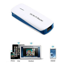 White Mini Router Wifi Wireless Modem Ripetitore Hotspot LAN 3G-Internet-5in1