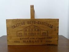 Französiche Weinkiste Chateau Landhaus mit Holzgriff Weinaufbewahrung Frankreich
