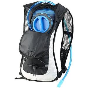 Xcase Ultraleichter Fahrrad-Rucksack mit 2-Liter-Trinksystem und Reflektoren