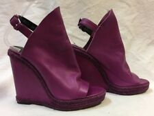 c511e2a80e5 Balenciaga Glove Wedge Pink Leather Open Toe Wedge Heels Shoes Sz 39