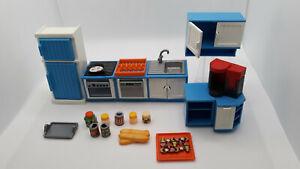 Playmobil, blau-weisse Küche