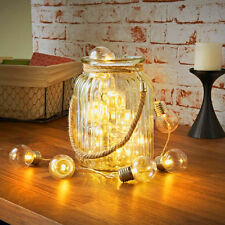 G40 20LED Battery Powered Warm White Retro Round Clear Bulb String Lights