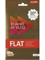 Ayyildiz Prepaid ay yildiz Sim Karte Aystar 10 € Startguthaben Original Neu!!!