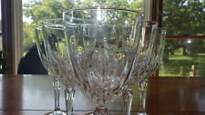 Clear Wine Glasses in Diamant by Cristal D'Arques-Durand 6 8 ounce elegant stem