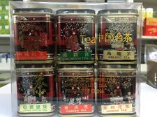 SMALL Gift Set Of 6 tea china Black,Tikuanyin oolong,green,Puer,Jasmine UKSELLER