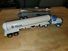 "Winross Chevron Semi-Truck Warren Petroleum Company Fuel Tanker 2 Trailer 10"""