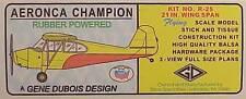 Gene Dubois #R-25 Aronca Champion Wingspan 21 Inches NIB